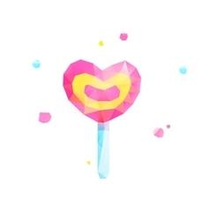 Polygonal heart love valentine vector image