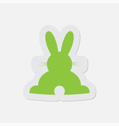 simple green icon - back Easter bunny vector image vector image
