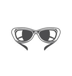 Sun Glasses Isolated on white background vector image vector image