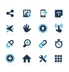 Web and Mobile 10 Azure Series vector image