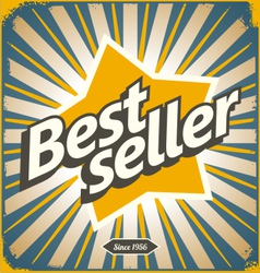 Bestseller retro tin sign design vector image