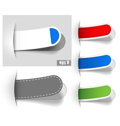 colored tabs vector image vector image