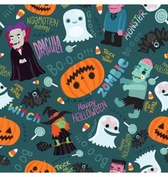 Happy Halloween seamless pattern vector image vector image