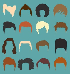 Mens hairdo styles in color vector