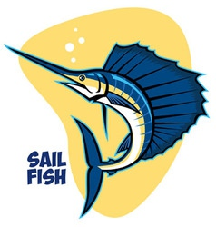 sailfish vector image vector image