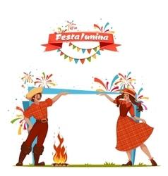 Brazilian Festa Junina Party banner vector image vector image