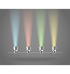 Color lamps vector image