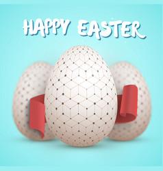 Easter egg set happy easter painted egg vector