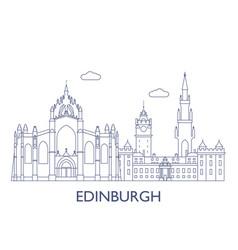 edinburgh vector image