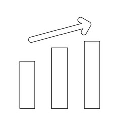 growth chart the black color icon vector image