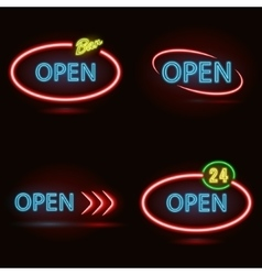 Neon signs set vector image vector image