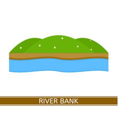 river bank vector image