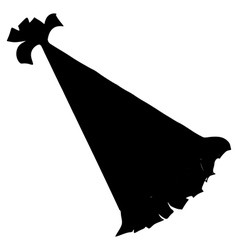 silhouette of birthday hat vector image