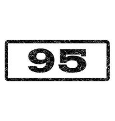 95 watermark stamp vector image vector image