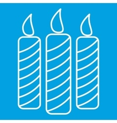 Candles thin line icon vector image
