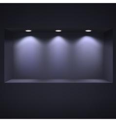 Dark niche for presentations vector image vector image
