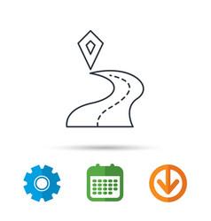 Destination pointer icon road location sign vector