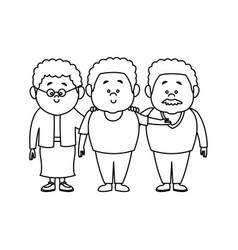 Family cartoon concept represented by grandparents vector