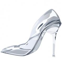 glass slipper vector image vector image