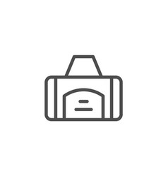 sport bag line icon vector image