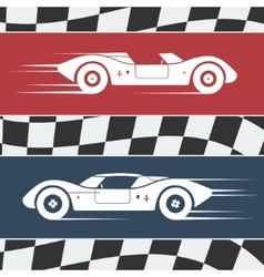 Two race cars vector image