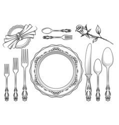 vintage food service equipment sketch vector image