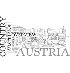 An overview of australia for travelers text word vector