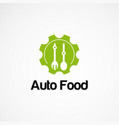 Auto food logo designs concept icon element and vector