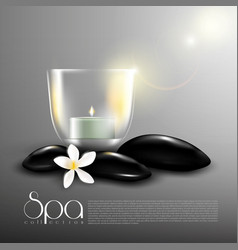 Beauty spa realistic template vector