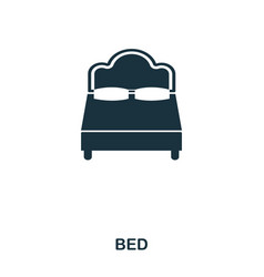 bed icon mobile app printing web site icon vector image