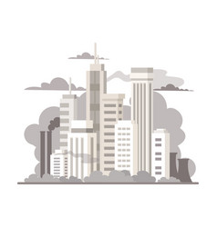 big city air pollution colorful flat vector image