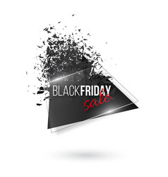 black friday abstract explosion banner glowing vector image