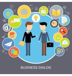 Business dialog concept vector