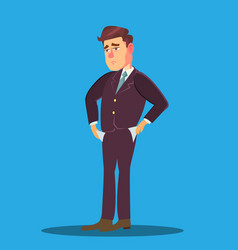businessman with no money empty pockets turned vector image