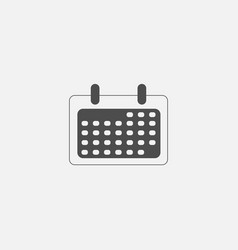 calendar flat symbol icon for web in trendy flat vector image