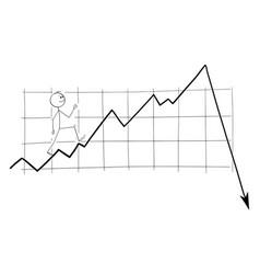 Cartoon man investor or businessman happily vector