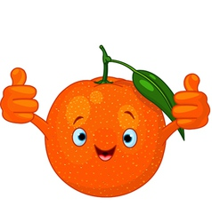 cartoon orange character vector image