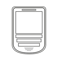 Cellphone isolated icon design vector