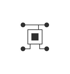 chip processor icon circuit technology electrical vector image