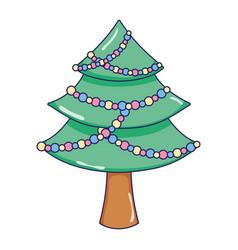 christmas tree pine cartoon vector image