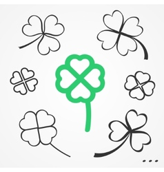 Clovers set vector image
