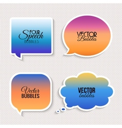 Colorful speech bubbles with text vector image