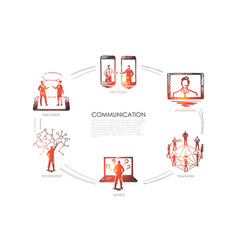 communication - exchange information teamwork vector image