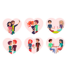 couples in love and happiness vector image