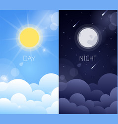 Day and night sky vector