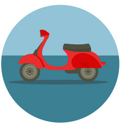 Delivery motorbike in flat style vector