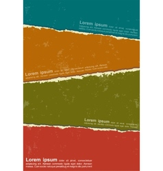 Design colorful torn papers vector image