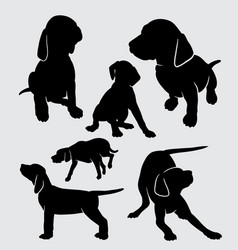 dog vizsla pet mammal animal silhouette vector image