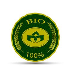 emblem with bio text vector image
