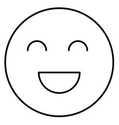 Face emoticon isolated icon vector